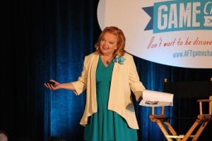 Valorie speaking at GameChanger event