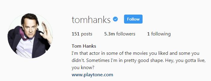 Tom Hanks on Instagram